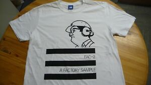 FACTORY T-Shirt,FAC 2.A Factory Sample,Rare EP, Size 2XL,White,Joy Division