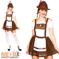 Bavarian Beer Maid Ladies Fancy Dress German Oktoberfest Womens Adult Costume