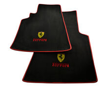 Floor Mats For Ferrari 550 Maranello 96-02 Tailored Carpets Red Leather Rounds