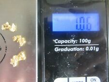 Alaska gold nuggets 1.06  grams # 6 screen very nice Alaskan river gold..