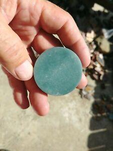 Guatemalan Blue Jadeite Slab Guatemala Blue Jade Rough Slab Disc 47mm
