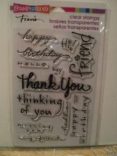 STAMPENDOUS CLEAR CLEAR STAMPS HAPPY MESSAGES SSC109 BNIP *LOOK*
