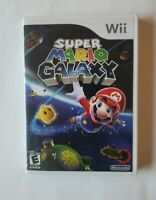 Super Mario Galaxy (Nintendo Wii, 2007) with Case, Disk and Manual