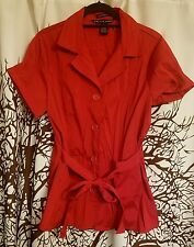 Antilla femme brand red blazer juniors size xl