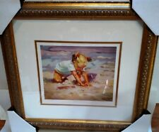 """Beach Blond by Artist Lucelle Raad, Framed, Signed, Limited Ed 20.5"""" x 19"""""""