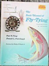 Antique Skeleton fly reel & 1981 fly tying book