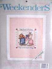 The Best Gifts Are Tied With Heart Strings Cross Stitch Kit MAT INCLUDED - New