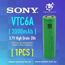 1 x Sony US18650 VTC6a > VTC6 3000mAh 20Amp HIGH CURRENT Rechargeable Battery