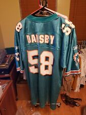 Karlos Dansby #58 Miami Dolphins Nfl Blue Reebok Football Jersey Large Throwback