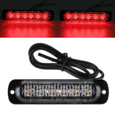 Red 6 LED Lights Car Motorcycle Warning Emergency Flash Warning Strobe Light New