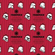 Stormtroopers Ruby Red Star Wars Force Awakens #109-3 Quilt Fabric by the 1/2 yd
