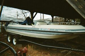 1989 Harris Floteboat 21' Deck Boat & Trailer - Virginia