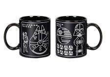 "STAR WARS ""MILLENIUM FALCON BLUEPRINT MUG"" ceramic 20 oz mug coffee tea NEW"