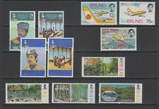 Brunei complete issues lot Aviation, Royalty Forestry Resources MNH