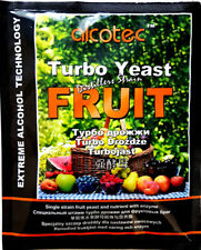 1 X ALCOTEC FRUIT mit Enzym Vodka Alkohol Obst Gärhefe Weinhefe TUBO YEAST