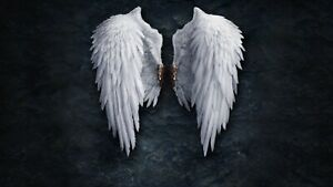 Fallen Broken Angel Wings Abstract Fantasy Wall Art Large Framed Canvas Picture