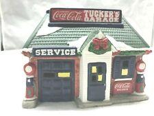 "Vintage Coca Cola ""Tuckers Garage"" Lighted Christmas House"