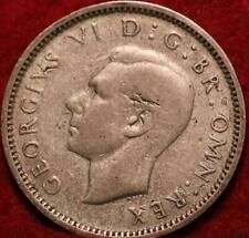 1942 Great Britain 6 Pence Silver Foreign Coin