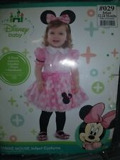 Party City Disney Baby Minnie Mouse Infant Costume Size 12-24 Months
