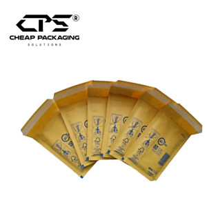 CPS Genuine Arofol Gold Padded Bubble Envelopes Shipping Mailers - Pack of 200