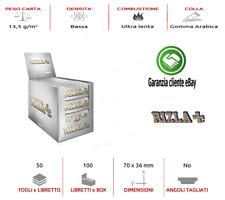 5000 x Cartine RIZLA Silver corte Argento Sigarette Sccatola da 100 libretti