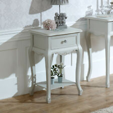 Elise Grey Range 1 Drawer Lamp Table Bedside Table French Bedroom Crystal Handle