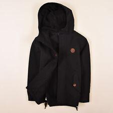 Fred Perry Junge Kinder Jacke Jacket Gr.140 Fleece-Futter Schwarz 83690