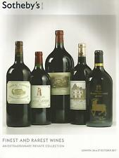 SOTHEBY`S CATALOGUE FINEST AND RAREST WINES  OCT 2011