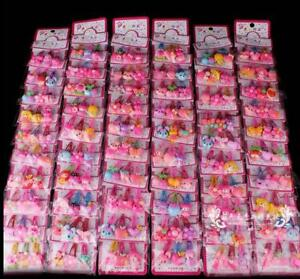 Wholesale 20pcs/Sets  Mixed Cartoon Baby Kids Girls HairPin Hair Clips Jewelry