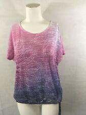 PRANA PINK WITH LOTUS FLOWER TOP YOGA L LARGE