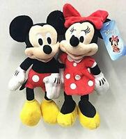 "Disney Mickey Mouse & Minnie Mouse 10"" Plush Bean Doll"