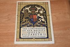 The Coronation of Her Majesty Queen Elizabeth II Approved Souvenir Programme '53