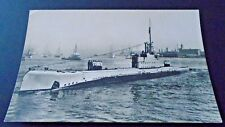 A  BRITISH SUBMARINE LEAVING HARBOUR,      REAL PHOTO (140x89mm)