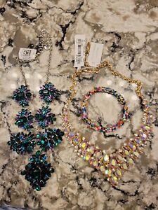 J Crew Macys TJ Maxx NWT Statement Necklace Multicolor Beaded Bracelet Lot