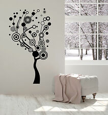 Vinyl Wall Decal Abstract Tree Circles Home Interior Ideas Stickers Mural ig4950