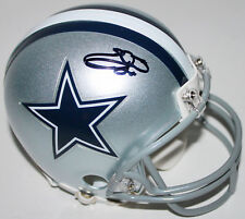 Cowboys Emmitt Smith firmado Mini Casco Autografiado En Negro Bas presenciado