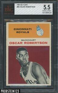 "1961-62 Fleer Basketball #36 Oscar Robertson RC Rookie HOF BVG 5.5 EX+ "" TOUGH """