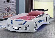 Autobett Future Car WEISS Vollausstattung Spielbett Kinderbett 90x190