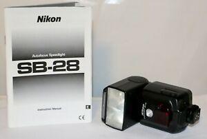 Nikon SB-28 Autofocus Speedlight VERY NICE + Instructions + Batteries
