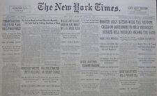 4-1932 April 28 DE VALERA READY TO LEAD MOVE FOR REPUBLIC MASSIE PLEA HOOVER FDR
