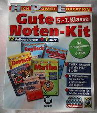 Gute Noten Kit 5.-7. Klasse, Deutsch, Mathe, Englisch, 9 CD's, Sybex-Verlag