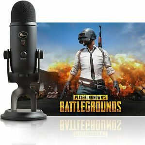 NEW Blue Yeti Blackout Microphone Player Unknown's Battlegrounds Streamer Bundle