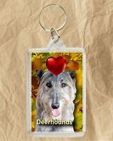 Deerhound Keyring Dog Key Ring Deerhound Dog Gift Xmas Gift Stocking Filler