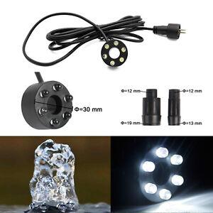 6 LED Ring Beleuchtung f. Springbrunnen Kranz Quellstein Pumpe Wasserspiel Licht