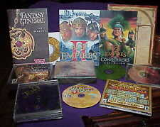 lot of video games - Age of Empires, Fantasy General, Beast Within, Dawn of War
