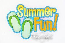 CraftEcafe Premade Paper Piece Scrapbook Title Die Cut Summer Fun BLJgraves 46