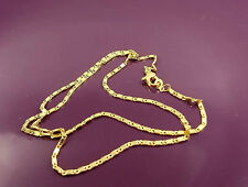 18K Gold Filled Unique Italian Smooth Snail Link 18ct GF Necklace Chain 45cm