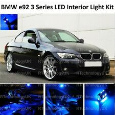 BLUE PREMIUM BMW 3 SERIES E92 INTERIOR FULL UPGRADE LED LIGHT BULBS KIT BULB