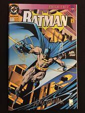 BATMAN #500 COA SIGNED x2 QUESADA NOWLAN KNIGHTFALL DIE-CUT FOIL DARK KNIGHT NM