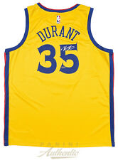 KEVIN DURANT Autographed Golden State Warriors City Edition Jersey PANINI